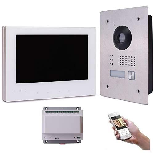 2 Draht IP Video Türsprechanlage Gegensprechanlage 7'' Monitor Weiß Kamera 170° HD mit oder ohne...