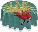 WJSQJ Tischdecke Vintage Fries Poster Design Pommes Frites