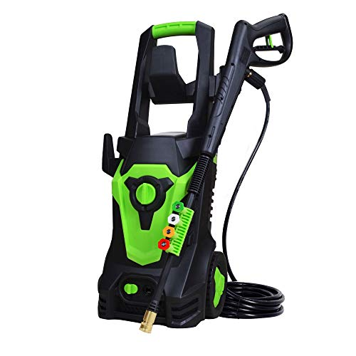 PowRyte Elite 1800 Watt 15A Electric Pressure Washer,Power Washer,Spray Washer with 4 Spray Tips and Powerful Motor - 4500PSI 3.5GPM(Green)