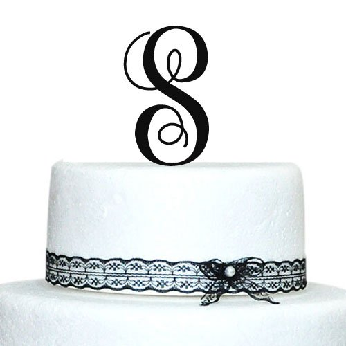 Price comparison product image Buythrow Cake Toppers Initial Custom Wedding Cake Toppers Letter in any letter A B C D E F G H I J K L M N O P Q R S T U V W X Y Z
