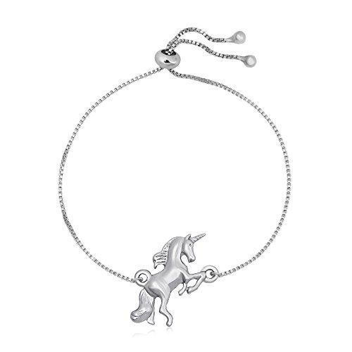 TUSHUO Pulsera Simple de Unicornio con Colgante de Unicornio, Mejor Regalo de Unicornio para un Amante del Unicornio