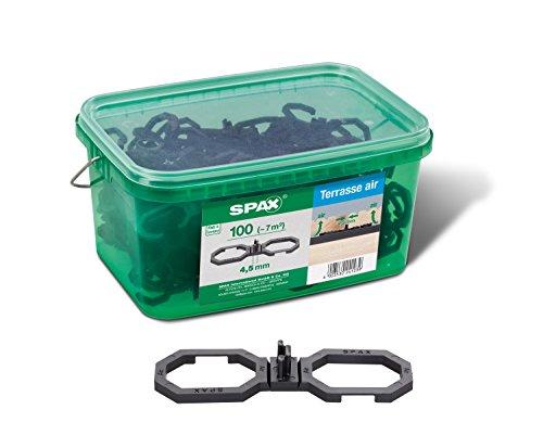 SPAX Air – Terrassendielen Abstandhalter 4,5 mm – 100 Distanzhalter in Henkelbox L für ca. 7m² Terrasse, 5009422545009