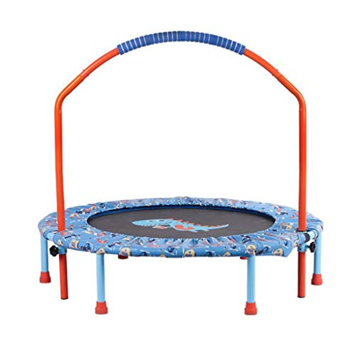 Kids Trampoline with Safely Handrail,38'' Outdoor Mini Toddler Rebounder Trampoline,Indoor Small Trampoline for Kids,Safe & Portable & Foldable & Durable (Color : Red)