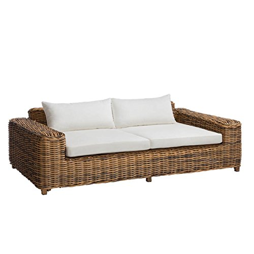 OUTLIV. Loungesofa Garten Versailles Luxury 2-Sitzer Gartensofa Stahl/Polyrattan-Geflecht Mix Beige Exklusive Gartenmöbel