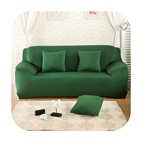 Funlife-Shop Solid Sofa Cover Elastic Slipcovers Armchairs Protector Sofa Set Housse Canape Living Room Couch 1Pc-Color 11-2-Seater(145-185Cm)