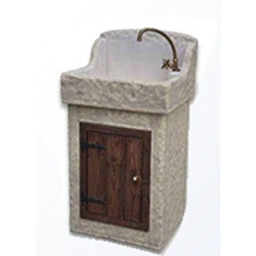 Waschbecken aus Beton, Spülbecken, Fontana, Maße: 55x 48H110cm.