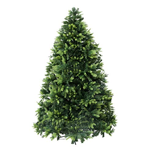 Christmas Artificial Tree, 9ft PVC&PE Artificial Christmas Tree with Solid Metal Legs and 1970 Real Branch Tips, Perfect Christmas Decor