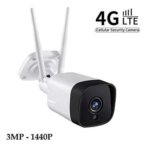 Voila Reve 4G LTE Mobile Überwachungskamera, 1080P Outdoor-Kamera, kein WiFi nötig, wetterfest, Zwei-Wege-Audio, Nachtsicht, Micro-SD-Kartenslot