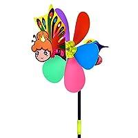 ruixuered-アウトドア便利21インチ漫画蜂犬動物風車風スピナーホームガーデンヤードの装飾玩具 - 蝶#