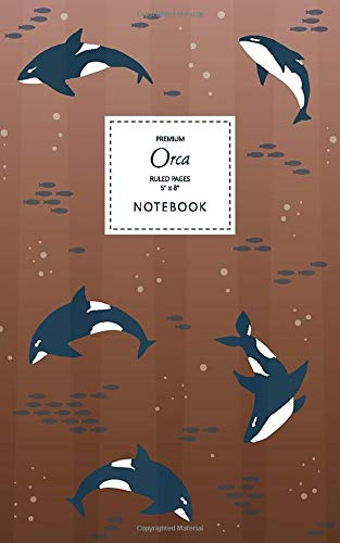 Orca Notebook - Ruled Pages - 5x8 - Premium: (Bronze Edition) Fun notebook 96 ruled/lined pages (5x8 inches / 12.7x20.3cm / Junior Legal Pad / Nearly A5)