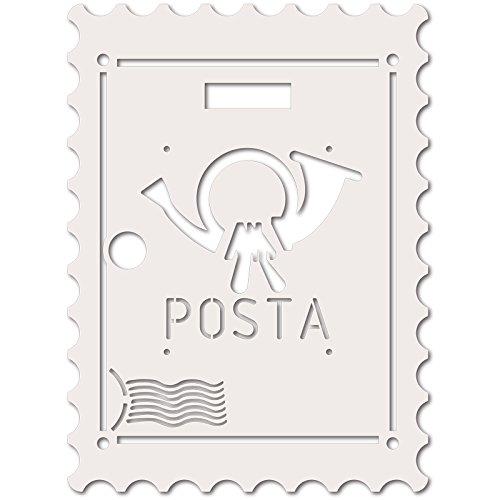 Alubox 08MIAPLBOLLOBI wissellijst voor brievenbus MIA met Frans design, wit