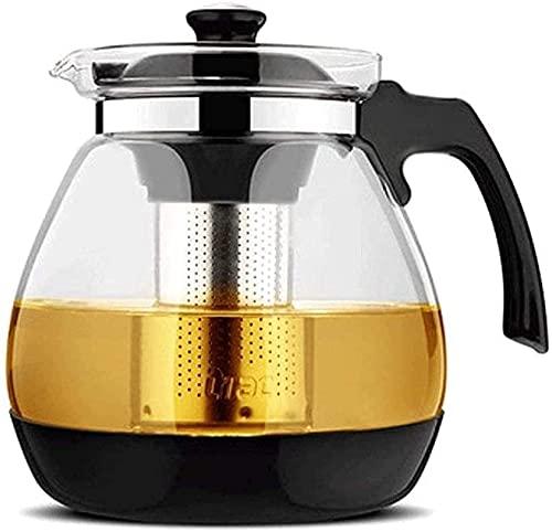 DBOATB Tetera Tetera de Vidrio Resistente al Calor Taza de Filtro Tetera Tetera de Gran Capacidad Flor Tetera PU Erh Tetera Tetera de Acero Inoxidable Taza de té
