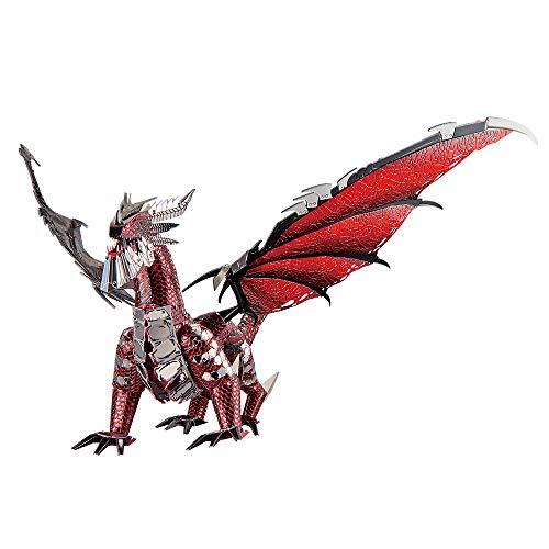 Piececool Rompecabezas 3D de metal negro con diseño de dragón, juego de rey de dragón, para manualidades, como regalo de cumpleaños para adolescentes y adultos