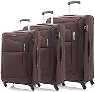 American Tourister Luggage Trolley Bags Set Of 3 Pieces, Brown, 75W03004