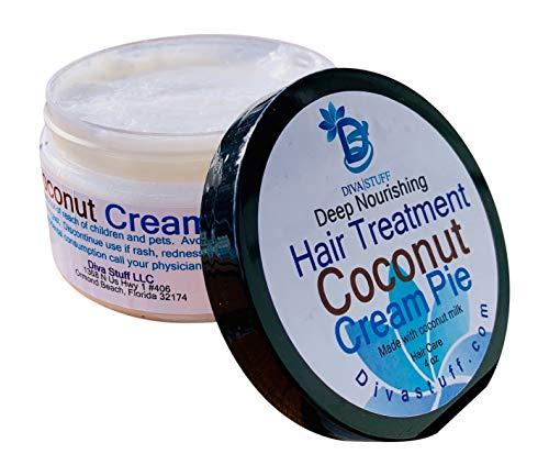 Coconut Milk, Deep Nourishing Hair Treatment,Made With Coconut Milk,4oz,By Diva Stuff
