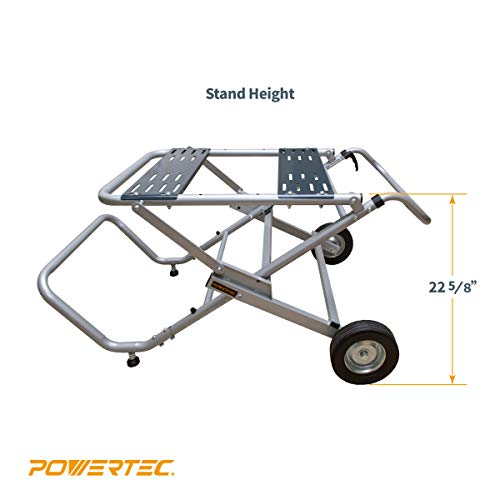 POWERTEC MT4009 Folding Table Saw Stand with Wheels
