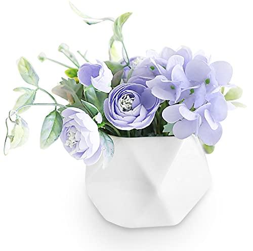 EACHPT Flores Artificiales Ramo De Flores De Seda con Jarrón De Cerámica Plantas Artificiales Plantas En Macetas para Bodas, Oficinas, Mesas, Salas De Estar, Decoración De Fiestas