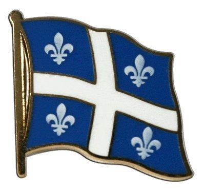 Flaggen-Pin/Anstecker Kanada Quebec vergoldet