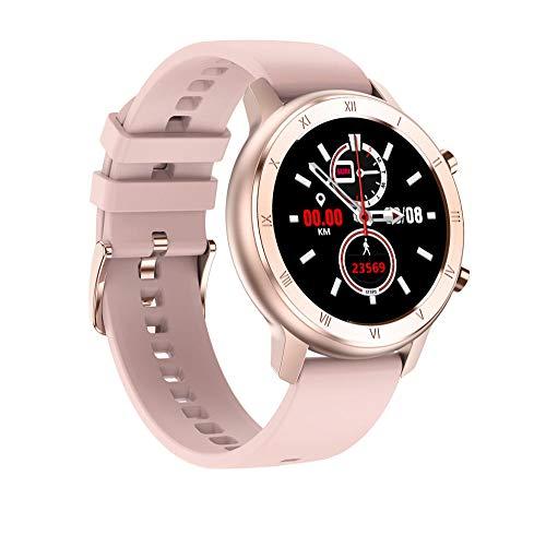 Reloj Inteligente para Mujeres, con Seguimiento de la Salud Femenina, Monitor de frecuencia cardíaca, Reloj Inteligente Impermeable para Deportes al Aire Libre para teléfonos Android iOS-A