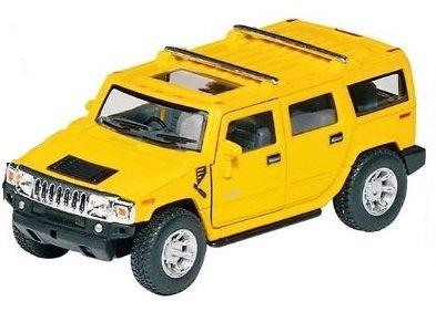 Hummer H2 SUV 2008 aus Spritzguß 1:40 Sammler Auto Sammlerauto (gelb)