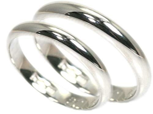 [京都ジュエリー工房] 結婚指輪 マリッジリング プラチナ pt900 甲丸 ペアリング 2本セット 指輪 財務省造幣局検定マーク ホールマーク 外側ダイヤ:レディース/メンズともに4個付き mari-kou-pt900-2_D04 メンズ6号・レディース