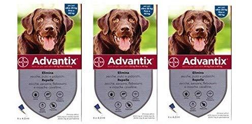 advantix Spot-ON per Cani Oltre 25 kg Fino a 40 kg - Offerta 3 Confezioni