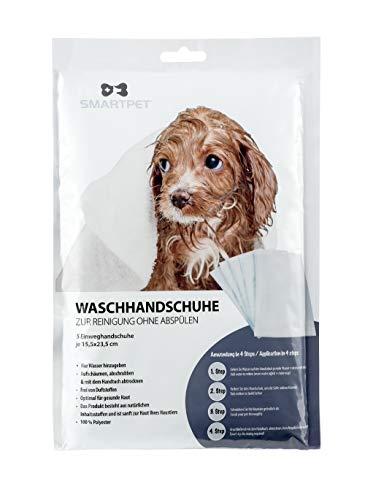 KAHU® SMART PET® Hund Einweg Waschhandschuhe • Pflegehandschuh 5er Set • Waschlappen und Handschuh Haustier • Reinigung ohne abspülen