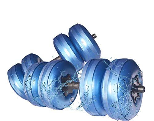 Weights Dumbbells Set Adjustable Water Filled,Travel Dumbbell Equipment/Adjustable Weight up to 45lbs/Portable 1KG(2.2lb)