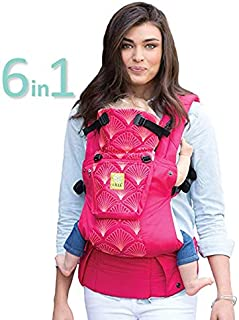 LÍLLÉbaby The Complete Embossed Luxe SIX-Position 360° Ergonomic Baby & Child Carrier, Coral - Baby Carrier, Ergonomic Multi-Position Carrying for Infants Babies Toddlers