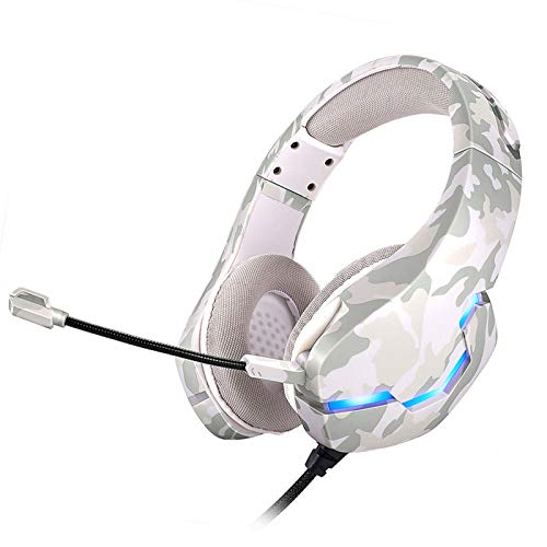 Esenlong Gaming Headset for PS4, 3. 5mm Wired Game Over- Ear Headphone with Mic Converter Cable and Volume Control for Laptop Smartphone PC