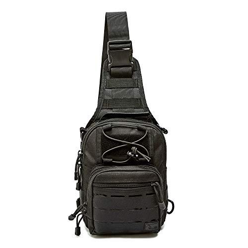 WOLF TACTICAL Compact EDC Sling Bag - Concealed Carry Shoulder Bag for...
