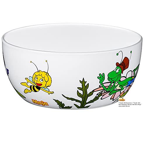 WMF Biene Maja Kindergeschirr Kinder-Müslischale 13,8 cm, Porzellan, spülmaschinengeeignet, farb- und lebensmittelecht