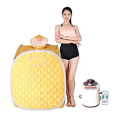 Smartmak Portable Steam Sauna, Health eco-Friendly 2L Steamer with Remote Control, one Person for Detox & Weight Loss(US Plug)