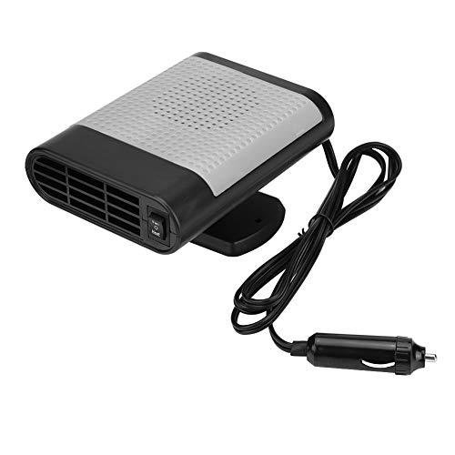12V Calentador de coche Ventilador Desempañador Desempañador Ventilador de aire caliente Coche Calentador de ventana eléctrico portátil Secador de calefacción Ventilador Parabrisas(Gris oscuro)
