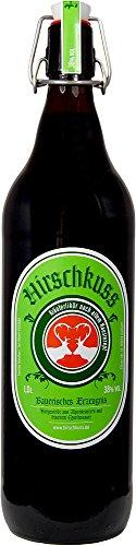 Hirschkuss 38% 1,0l Schnackelverschlussflasche