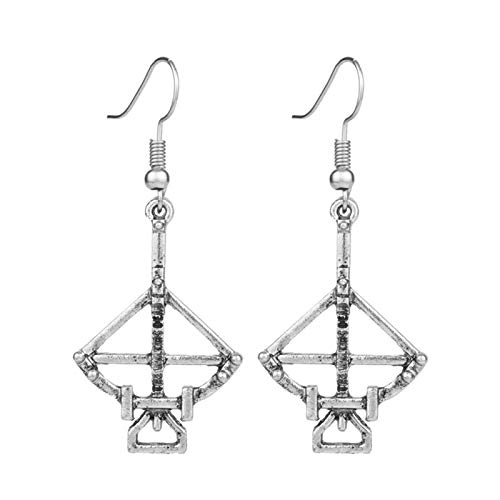 YHX American TV series The Walking Dead earrings, long retro exaggerated bow and arrow earrings, with accessories