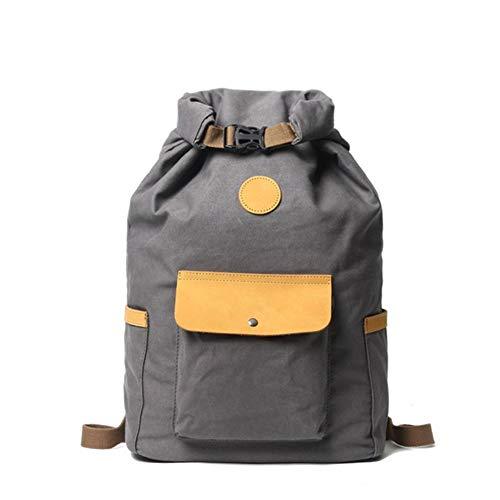 Angle-w Diseño elegante, viaje simple, mochila de deportes de moda coreano distaff estudiante mochila masculina ocio exterior viaje montañismo bolsa Vamos a ir más allá, gris, A