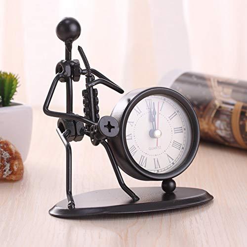RH-ZTGY Reloj Retro, Estilo Europeo Vintage Silent Desk Reloj De Cuarzo Sin Tick Activado Classic Clásico Retro Reloj Desk Reloj Despertador, Lente De Vidrio HD, Fácil De Leer,8