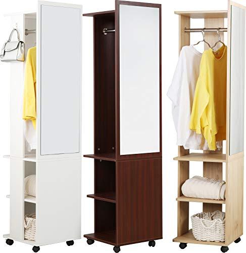 VCM Dielenschrank Garderobe Kleiderschrank Regal Diele Flur Möbel Dinus Weiß