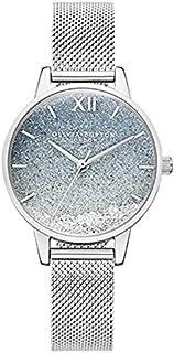 ساعة للسيدات من أوليفيا بيرتون ساعة صغيرة للنساء من LOLA Gypsophila هدية وردية للطالب أو B (اللون: OB16US59، المقاس: 30 مم)