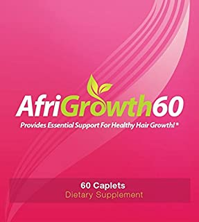 AfriGrowth60 Black Hair Growth Vitamins For African American Hair - Extra Strength Biotin and MSM
