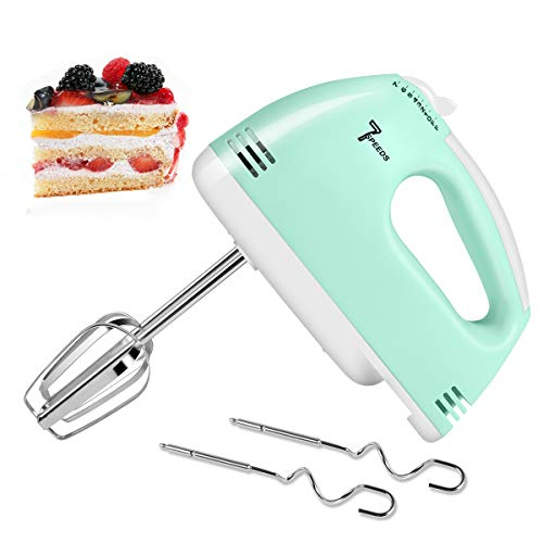 MOSAJIE 2020 Upgrade Electric Hand Mixer, Multi-Speed Handheld Mixer, Lightweight Electric Hand Mixer Stainless Steel Egg Whisk with Egg Sticks and Dough Sticks