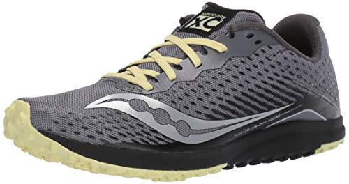Saucony Zapato plano Kilkenny Xc8 para mujer, negro (Negro / Amarillo), 43...