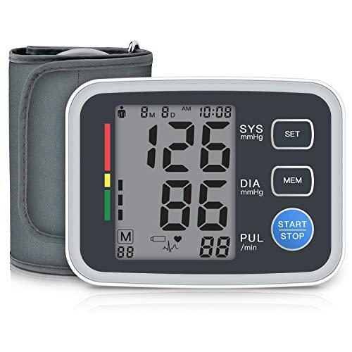 Oberarm-Blutdruckmessgeräte Digitale, Amzyigou Vollautomatisch Blutdruckmessgerät mit Manschette 22-42 cm, Großes LCD Display Pulsmessung Blutdruckmessung Heimgebrauch, 2x90 Dual-User-Modus