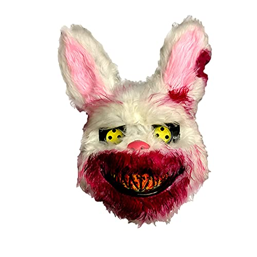 Disfraz De Halloween Máscaras De Terror Máscaras Faciales Divertidas Máscaras Anónimas De Látex Máscara De Conejito Sangriento De Halloween Accesorios De Terror De Fiesta