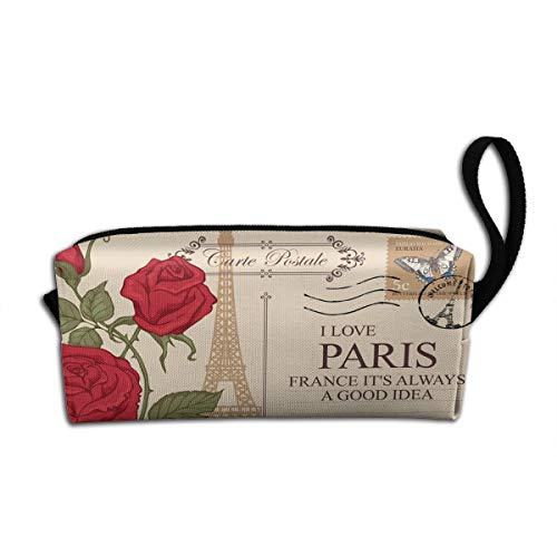 Paris Classic Building Makeup Bag Adorable Travel Cosmetic Pouch Toiletry Organizer Case Gift for Women