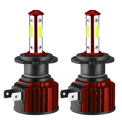 Guanweun QuQiaoUK - Lámpara antiniebla de 4 lados con chip de mazorca H7 H11 HB3 9005 HB4 9006 6000K LED faro