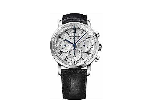 Louis Erard eccellenza Chrono data orologio automatico, argento, cinturino in pelle