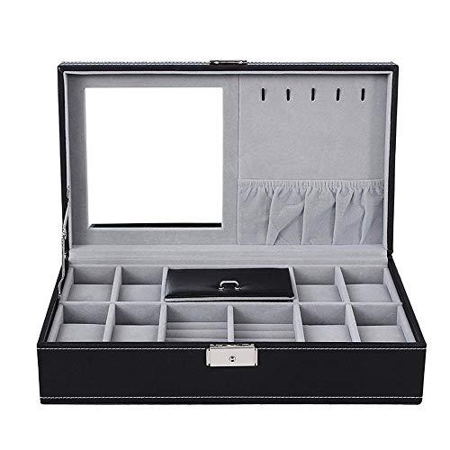 LANLANLife Caja de Organizador de Caja de Reloj de Cuero de PU Caja de Almacenamiento y presentación