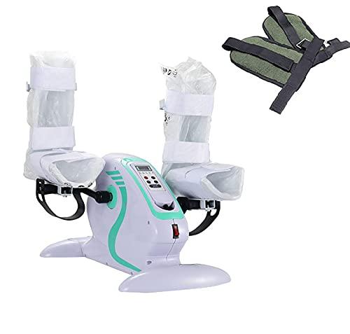 Fhdisfnsk Mini vélo d'exercice électrique/pédale de Fitness motorisé, handicapé et survivant d'un AVC, Mini Machine d'exercice à pédale, physiothérapie électronique pour la Circulation Sanguine.